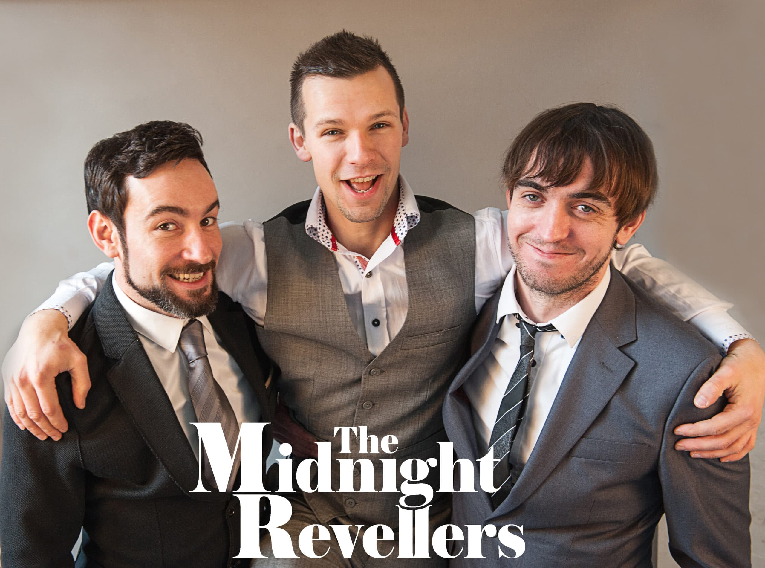 3 piece wedding and corporate band Midnight Revellers for hire with Drinks Reception Music