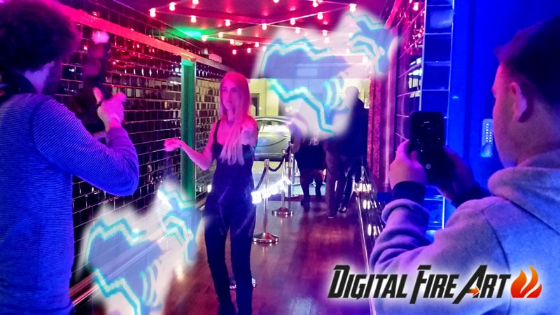 Digital Fire Art with www.drinksreceptionmusic.ie