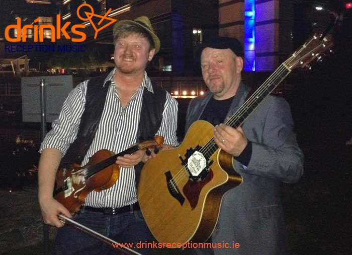 Storehouse Trad Duo Drinks reception Irish